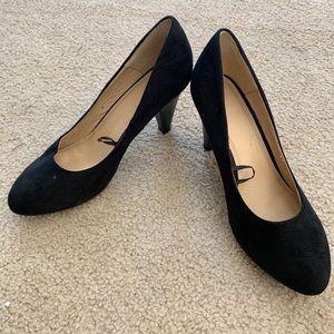 Suede H&M Heels (Black) Size 8.5